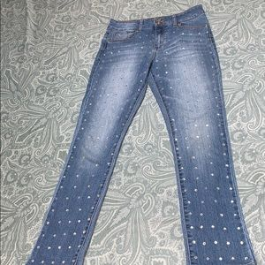 Girl's Guess Rhinestoned Jeans